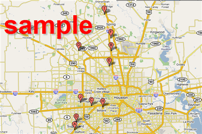 Sample Gas Station Map